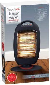 Powatron  Halogen Heater with 3 Heat Settings (400/800/1200W)