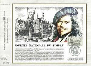 FEUILLET CEF 1er JOUR FRANCE JOURNÉE NATIONALE DU TIMBRE 1983