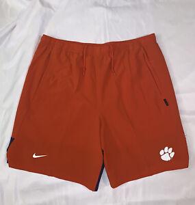 Mens Nike Flex Clemson Tigers Orange Performance Shorts AO4838-888 2XL NWT $75