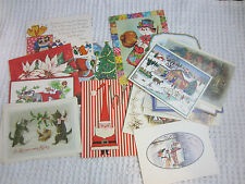 1950s-90s 19 vintage Christmas postcards/cards Unused no envelopes
