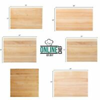 Large Wood Restaurant Cutting Boards Butcher Block Commercial Kitchen Rigid