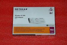 NETGEAR USB WIRELESS N ADAPTER WN111 N-300 NETWORK ADAPTER CARD BNIB #CS