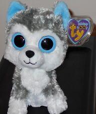 "Ty Beanie Boos ~ Slush the 6"" Husky Dog (2011 Gen Tags) Mint with Mint Tags"