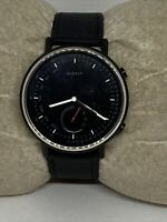 Misfit MIS5017 Unisex Black Leather Black Analog Dial Hybrid Smart Watch XX827