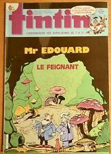 BD Comics Magazine Hebdo Journal Tintin No 22 42e 1987 Mr Edouard