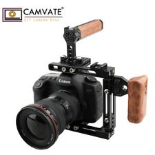 US CAMVATE DSLR Camera Cage Wood Left Handle Grip for Canon 60D Nikon D7000 GH5