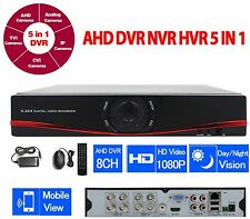 DVR 8 CANALI IBRIDO CLOUD 5 IN 1 NVR CVI TVI HVR AHD ANALOGICO 8 CH FULL 1080P
