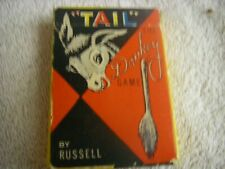 Pin The Tail On The Donkey Card Game Russell 1959 Party Game Vintage