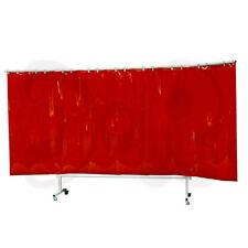 Cartel 375cm Ancho Rojo Móvil schweißschutzwand schweißerschutzwand