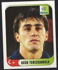 "EURO 96 STICKER - TURKEY - ""OGUN TEMIZKANOGLU"" No 305 BY MERLIN"