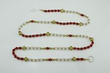 Red Clear Crystal Round Gold Beaded Chain/Garland/Ladi/Toran/Door Wall Hanging