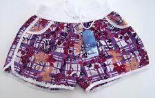Kinder Shorts BIXTRA  in sommerlich bunter Farbe lila weiß mit Aufdruck Gr. S