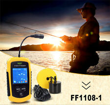 LCD 100m Portable Sensor Depth Sonar Fish Finder Fishing Beam Alarm Transducer