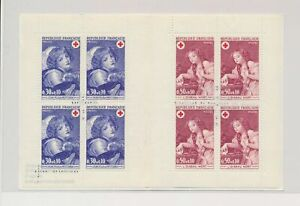 LO38052 France portraits paintings red cross good booklet MNH