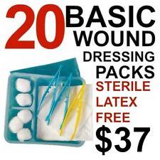 BASIC DRESSING PACK (x 20) STERILE NURSING STUDENT MEDICAL SURGERY DENTAL