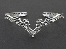 Silver Cuff Bracelet Vintage India Filigree Jali Bohemian Christmas NEW