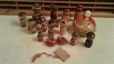 Vintage Japanese Kokeshi Dolls & Other Souvenirs 1950's