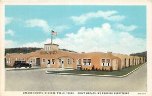 H62/ Mineral Wells Texas Postcard c1920s Grande Courts Tourist Apartments 161