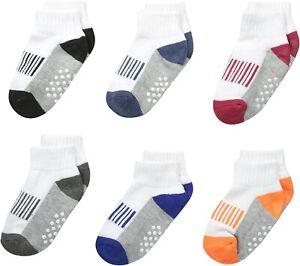 Jefferies Socks Baby Boys 245381 Half Cushion Quarter Socks 6 Pair Pack Size XS