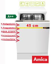 Geschirrspüler kompakt Vollintegrierbar 45cm A++ 9 Maßgedecke EGSP 14668 V