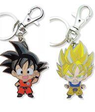 Dragon Ball Z DBZ Metal Keychain SET Of 2 Son Goku dragonball *NEW* AUTHENTIC