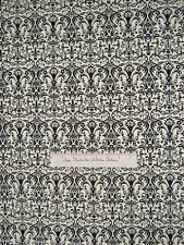 Timeless Treasures Fabric - Noir Black French Influenced Damask on Cream /Yd