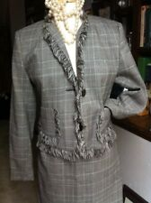 harve benard plaid suit office courtroom wool lined 8p