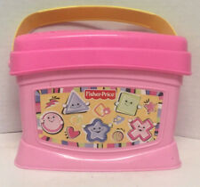 Fisher Price Brilliant Basics Baby's First Blocks Girls Pink Shape Sorter Vg