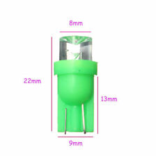 4x Green led wedge globes T10 5w ,suits many cars, dash & number plate lights