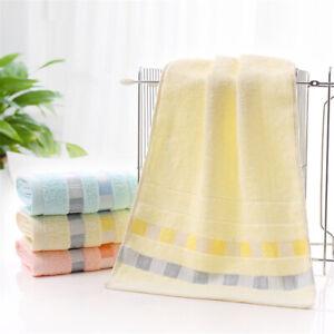 Cotton Solid Color Towels Household Bath Towel Sheet Soft Face Hand Towel