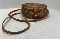 New Urban Outfitters Brown Woven Basket Shoulder Purse Bag B2