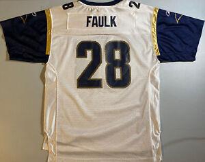New Reebok On Field Youth Marshall Faulk St. Louis Rams away jersey size XL #28
