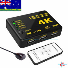 5 Way 4K HDMI Port Switch Switcher 5 In 1 Out with Remote Control 1080P Full HD