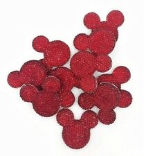 Plastic Heart Pendants Mixed Colours-pk30 B159