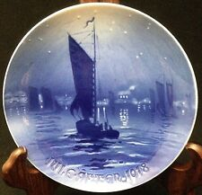 1918 Bing & Grondahl Christmas Plate - Fishing Boat Returning Home for Christmas