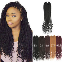 "18"" Goddess Faux Locs Curly End Crochet Twist Braids Synthetic Hair Extensions"