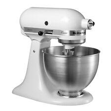 KitchenAid 5K45SSBWH White 4.3 L 250 Watts 10 Speeds Stainless Steel Stand Mixer