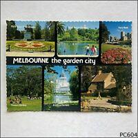 Melbourne Victoria The Garden City 6 Views NCV Postcard (P604)