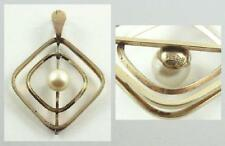 Lovely Vintage Signed Van Dell 12K Gold Filled Pendant set with a Cultured Pearl