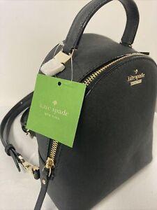 Kate Spade New Cameron Street Binx Black Mini Backpack PXRU9129 NWT Convertible