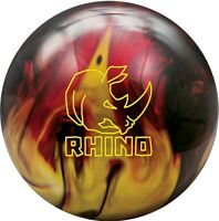 Brunswick Rhino Red/Black/Gold Pearl Bowling Ball