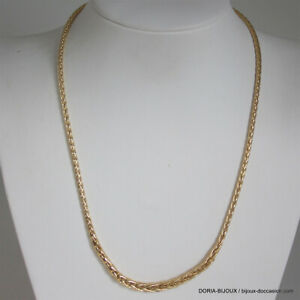 Collier Or 750 Maille Palmier Chute - 11.45grs - Bijoux occasion