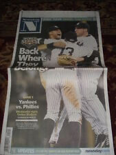 NY YANKEES NEWSDAY NEWSPAPER ALCS CHAMPS 2009 10/26/09 JETER AROD PETTITTE