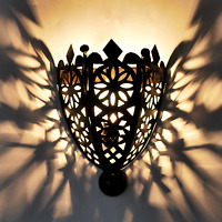 Orientalische wandlampe Marokkanische Lampe EISEN Wandleuchte BOHA MSCHANKAB
