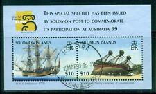SOLOMON ISLANDS 873 SG#MS923 Used 1999 AUSTRALIA99 Ships Souvenir Sheet Cat$9