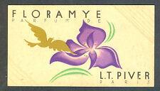 PERFUME FLORAMYE PARFUM DE  L.T.PIVER VINTAGE.CARD ADVERTISING