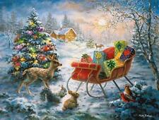 SUNSOUT JIGSAW PUZZLE T'WAS THE NIGHT NICKY BOEHME HOLIDAY 500 PCS #19264