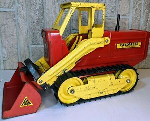 Nylint #3100 Payloader V2 Red/Yellow 1959 RARE Fair Condition Vintage Steel