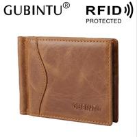 Men Genuine Leather Cowhide Wallet Bifold Retro Credit Card ID Holder Purse
