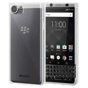 For Blackberry KEYone Case Soft Back TPU Bumper Slim Hybrid Phone Cover - Clear